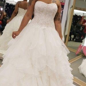 Oleg Cassini David's bridal wedding dress
